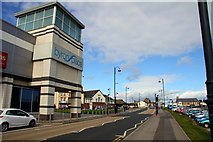 NZ4349 : The A182 passes Byron Place in Seaham by Steve Daniels