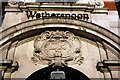 TQ1673 : Cartouche, William Webb Ellis public house, Twickenham by Julian Osley