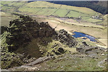 SK1491 : Towering over The Tower, Alport Castles, Derbyshire by Chris Morgan