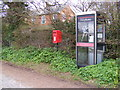 TM4881 : Telephone Box & Main Road Postbox by Adrian Cable