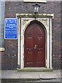 SJ8253 : The west door of St Martin's church by John S Turner