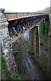 SK1373 : One of the two disused viaducts at Miller's dale.  by Chris Allen