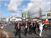 J4844 : The Rumanian Delegation marching in the Downpatrick St Patrick's Parade by Eric Jones