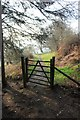 SJ1266 : Gate from the Clwyd Forest by Jeff Buck