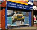 J3373 : Decorated shutter door, Belfast by Albert Bridge