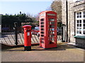 TM4462 : Telephone Box & Main Street Postbox by Adrian Cable