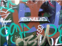 NZ3166 : Is this the name of the graffiti artist by Christine Westerback