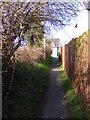 TM3877 : Mill Hill footpath to Wissett Road by Geographer