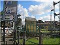 TF9913 : Restored signal box at Dereham North station by Bob Jones