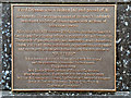 SD7109 : Plaque on Fred Dibnah's Statue by David Dixon