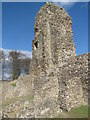 SP9908 : Remains of the West Tower, Berkhamsted Castle by Chris Reynolds