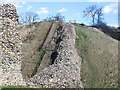 SP9908 : The Wing Wall and Modern Steps, Berkhamsted Castle by Chris Reynolds