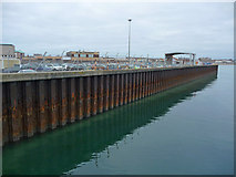 SY6878 : Weymouth - Harbour Wall by Chris Talbot