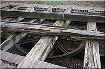 SK2855 : Wheel pit, Middleton Incline by Ian Taylor