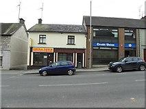 H6357 : Chinatown / Credit Union, Ballygawley by Kenneth  Allen