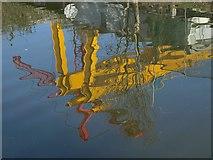 TQ2182 : Canal reflection by Derek Harper
