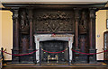TQ2549 : Fireplace, Holbein Hall, Reigate Priory by Ian Capper