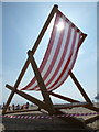SZ0990 : Bournemouth: in the shadow of a giant deckchair by Chris Downer