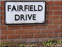 TM3863 : Fairfield Drive sign by Geographer