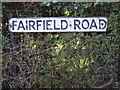 TM3863 : Fairfield Road sign by Adrian Cable