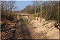 NT3560 : Preparations for the new line near Gorebridge by Jim Barton