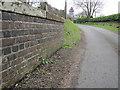 SJ5659 : Tilstone Bank railway bridge and a bench mark by John S Turner
