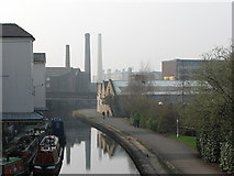SE1437 : Shipley: canal wharf by John Sutton