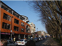 TQ3581 : View along Mile End Road towards the former Empire Music Hall by Robert Lamb