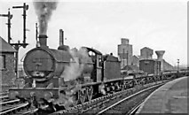 NZ4518 : Up freight from Newport Yard typically being thrashed out through Thornaby station by a NER 0-8-0 by Ben Brooksbank