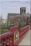 NS4863 : Paisley Abbey from Abbey Bridge by Stephen McKay