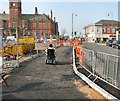 SJ9494 : New pathway on Clarendon Street by Gerald England
