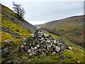 SD9099 : Cairn on the Pennine Way by Christine Johnstone