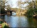 SU8954 : Railway bridge over the Basingstoke Canal by Christine Johnstone