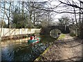 SU8954 : Canoeists on the Basingstoke Canal by Christine Johnstone