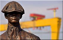 J3574 : Titanic Yardmen sculpture, Belfast (3) by Albert Bridge