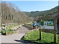 ST2393 : Information Board, Cwm Carn Lake by Robin Drayton