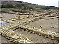 NY7766 : Recently consolidated walls of barracks, Vindolanda Roman Fort by Andrew Curtis