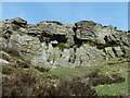 SK1885 : Rock formation by the summit of Win Hill by Andrew Hill