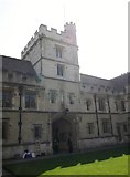 SP5106 : Inside the Radcliffe Quadrangle, University College, High Street, Oxford by Robin Sones