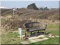SU7502 : Memorial Bench, Thorney Island by Colin Smith