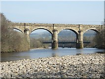 NY7063 : The River South Tyne and Alston Arches Viaduct (2) by Mike Quinn