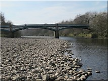 NY7063 : The River South Tyne downstream of Tyne Bridge (4) by Mike Quinn