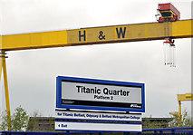 J3574 : Titanic Quarter station, Belfast (1) by Albert Bridge