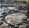 NY8118 : Eroded shale, bed of Swindale Beck by Karl and Ali