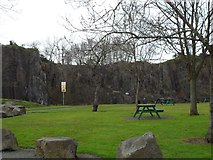 NS7177 : Picnic area at disused Auchinstarry Quarry by Stephen Sweeney