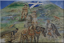 NS6113 : Castle Hotel mural, New Cumnock by Leslie Barrie