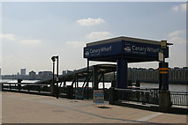 TQ3680 : Canary Wharf Pier by Christopher Hilton