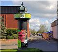 C8532 : Advertising column, Coleraine by Albert Bridge