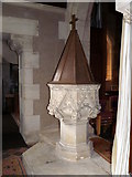 ST9383 : Font, The Church of the Holy Rood by Maigheach-gheal