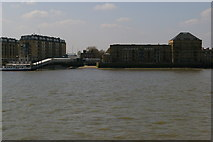 TQ3680 : Looking across the Thames from Canary Wharf Pier by Christopher Hilton